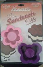 FLOWER & BUTTERFLY Ice Cream Sandwich Maker Mold TREATS New Pink Purple