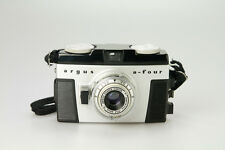 VINTAGE ARGUS A-FOUR 35MM FILM CAMERA, CINTAR 44MM f3.5 LENS