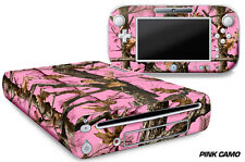 Skin Decal Wrap for Nintendo Wii U Gaming Console & Controller Sticker PINK CAM