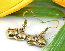 new Wholesale 2 Pair/Lot Charm Lady Fashion Jewellery Cooper Cat Stud Earrings