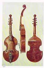 """Musical Instruments by Hipkins - """"THE BIG BASE"""" Plate XXVII - Chromo -1923"""