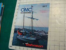 Vintage CLEAN Boat CATALOG/ BROCHURE: OMC accessories 1977; 48pgs