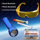 Set of 28 LED UV&Safety Automotive A/C Fluid Gas Gases Leak Detector+Glasses New