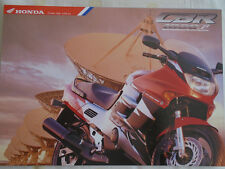 Honda CBR 1000F Motorcycle brochure Sep 1996 UK market