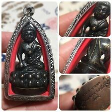 Beautiful Phra Kring Lp Ruay Wat Tako Rooster Amulet Luck Rich Wealth Protect