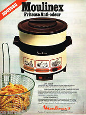 PUBLICITE ADVERTISING 085  1978  MOULINEX  la friteuse anti- odeur