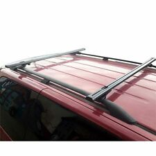 "Black Factory Roof Rail Clamp-On Ladder Van Rack 50"" bar with endcaps"