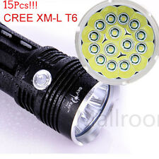 38000Lumen CREE XM-L 15x T6 LED Taschenlampe Flashlight Handlampe Torch 4x 18650