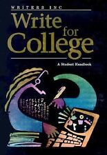 Write For College: A Student Handbook GREAT SOURCE Paperback