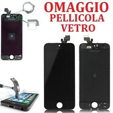 TOUCH SCREEN + LCD DISPLAY RETINA  + FRAME PER APPLE IPHONE 5 VETRO SCHERMO NERO