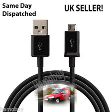 Micro USB Data Cable Sync Charging Cord Black Charger for Cell Phones, Black