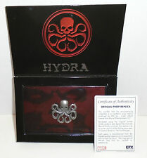 """CAPTAIN AMERICA THE FIRST AVENGER """"HYDRA LAPEL PIN"""" EFX NEW in BOX"""