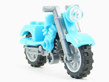 LEGO City Motorcycle Medium Azure Fairing Dirt Bike Flat Silver Frame