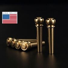 Brass Bridge Pins (Set of 6) for Acoustic Guitar NEW