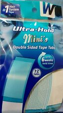 Walker Tape Ultra Hold Mini Strips Hair Replacement System Wig Adhesive 72 Pack