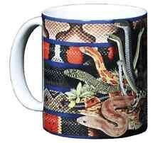 Snakezzz 11 OZ Ceramic Coffee Mug Snake Rattlesnake Corn Green Water Coral