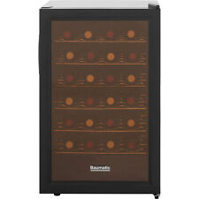 Baumatic BW28BL Free Standing Wine Cooler Fits 28 Bottles Black New