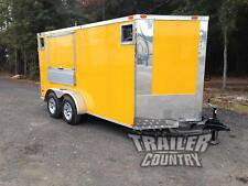 BRAND NEW 2017 7X14 7 X 14 V-NOSED ENCLOSED CONCESSION VENDING TRAILER IN STOCK