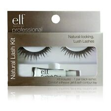 ELF (eye lips face) LENGHTY FULL NATURAL FALSE EYELASH KIT - FREE UK POST!!!