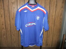 Glasgow Scottland soccer jersey Umbro Rangers large blue Carling futbol