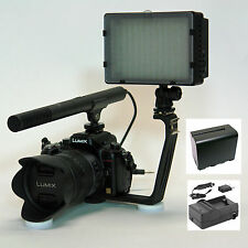 Pro VM SC-12L mic camcorder video light F970 for Sony FDR AX33 AX100 CX900 4K