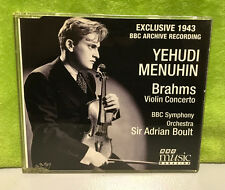 Yehudi Menuhin - Brahms Violin Concerto BBC Archive Exclusive 1943 Recording CD