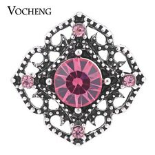 Vocheng 4 Colors Vintage Metal Button 18mm Hollow out Snap Jewelry Vn-1147