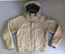 NORTH FACE Jacket 80s Vtg Brown Label Parka Coat Hood Patches BLM Rare USA Men M
