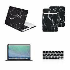 "4 IN 1 Black Marble Case for Macbook Pro 13"" w./ Retina +Keyboard Skin +LCD +Bag"