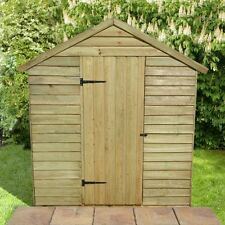 ONLY £299 Garden shed tanalised 7x5 heavy duty over lap shed apex garden shed