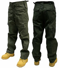"40"" INCH OLIVE GREEN ARMY MILITARY CARGO COMBAT TROUSERS PANTS"