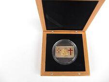 Cook-Inseln 5 Dollar 2006,Papstbesuch Türkei,Silber/Gold , gekaps.,Zertifikat