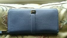 New Cole Haan Village II Travel Zip Pebbled Leather Wallet - Chicory
