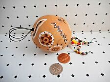 Native American Indian Gourd Ornament Beads Beadwork Painted Hanging Natural Art