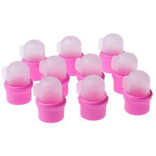10 Pcs Wearable Nail Acrylic Soaker Kits Polish Remover Gel Removal Cap Tips