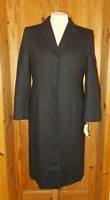 DOROTHY PERKINS charcoal dark grey WOOL long greatcoat winter jacket BNWT 16 42