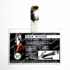Resident Evil Ada Wong ID Badge Weapon License Zombie Cosplay Prop Halloween