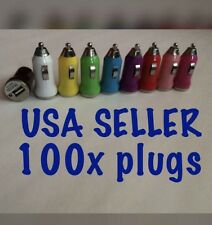 100x USB Car Plug Charger for iphone 4 5 5s 5c 6 Galaxy wholesale Lot