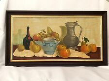 Fine Mid 20th Century Oil On Board Dutch Style Still Life Painting