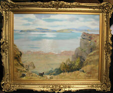 ROBERT HOUSTON 1891-1940  SCOTTISH IMPRESSIONIST OIL PAINTING CUMBRAE AYR CLYDE