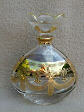 VINTAGE ITALIAN RCR MURANO HEAVY GLASS & GOLD SCENT BOTTLE N2