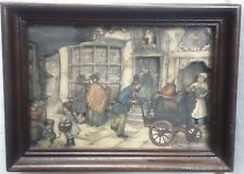 Anton Pieck 3-D Diorama Decoupage Shadowbox Candy Store Framed Picture