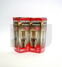 2 X Eveready 220-240V 15w 300°C Oven Kitchen Appliance Lamp SES E14 Bulb Pygmy