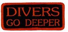 SCUBA DIVING - Diver's go Deeper Patch  SC127