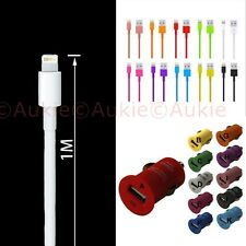 ONE Color Cable+ Bullet Car Charger for iPhone 7/6S/6/5/5S/5C/iPod