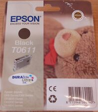 ORIGINALE Epson T0611 to611 NERO CARTUCCIA ERMETICA ORIGINALE Teddy Bear inchiostro Oem