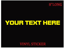 Personalized custom name vinyl decal sticker for car laptop window bumper truck