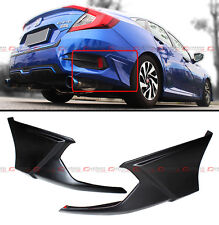 2016-2017 HONDA CIVIC 2 PC JDM ADD-ON REAR BUMPER SIDE SPLITTERS APRON VALANCE