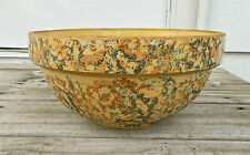 """VINTAGE 10"""" RED WING YELLOW SAFFRON WARE/SPONGE WARE MIXING BOWL-1930'S"""