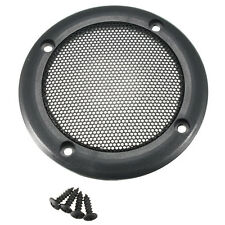 2PCS 3.5''inch Black Circle Round Mesh Woofer Speaker Protective Grille+4 screw